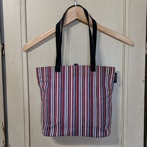 Eddie Bauer Red, white, and Blue Canvas Tote Purse